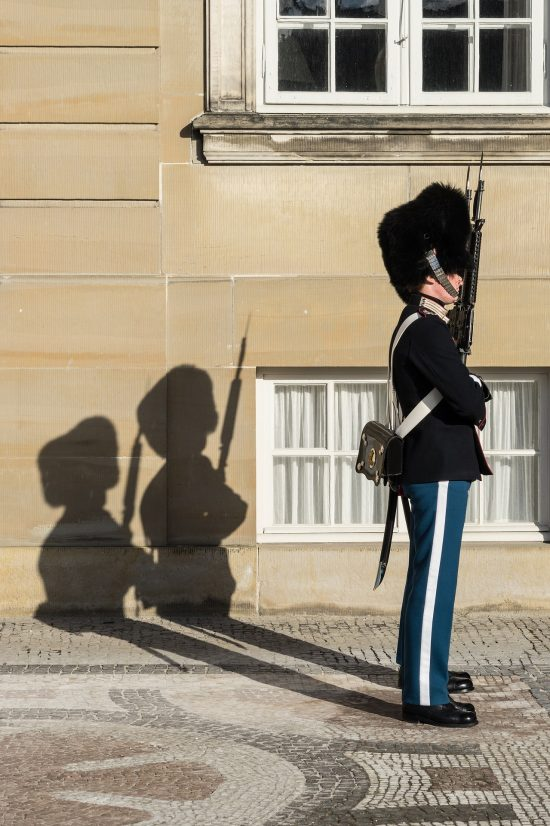 Guard at Christiansborg Palace