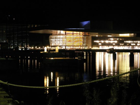 Copenhagen Opera House at night