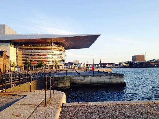 Copenhagen Opera House at sunset