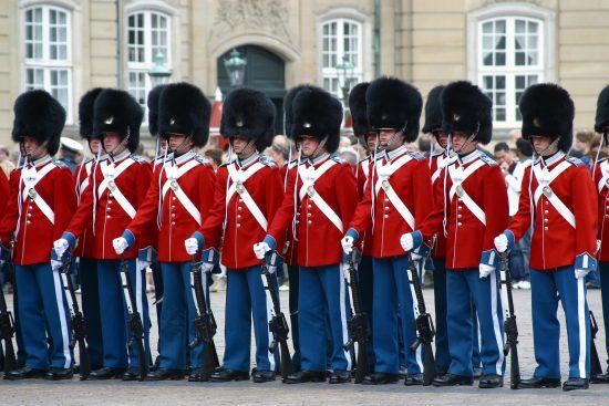 Changing of the Royal Guard at Amalienborg Palace